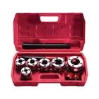 Набор клуппов 1/4 -3/8 -1/2 -3/4 -1 -1,25  + плашкодержатель с трещоткой, 9 предметов // SPARTA